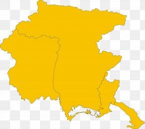 Map - Friuli-Venezia Giulia Regions Of Italy Vector Graphics Clip Art PNG