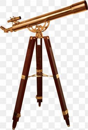 Brass - Refracting Telescope Tripod Brass Eyepiece PNG