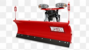 RED LINES - Snowplow Plough Western Products Spreader Heavy Machinery PNG