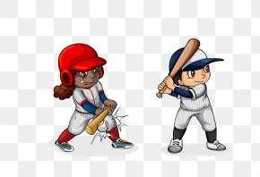 Vector Cartoon Baseball Player Creative - Baseball Bat Stock Photography Clip Art PNG