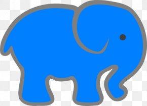 Aqua - Clip Art Indian Elephant Elephants Vector Graphics Image PNG