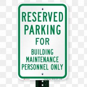 Building Maintenance - Disabled Parking Permit Car Park Disability Sign PNG