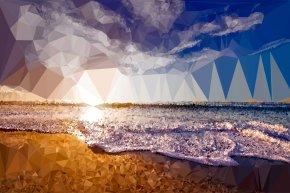 Beach Shore Cliparts - Sunset Sea Cloud Ocean Sky PNG