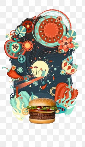 Burger - Advertising Agency Creativity Idea Illustration PNG