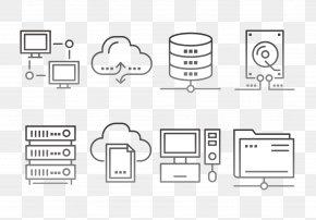 Black And White Line Cloud Platform - Server Cloud Computing Computer Network Icon PNG
