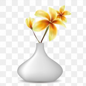 Vase Of Yellow Flowers - Vase Still Life Photography PNG