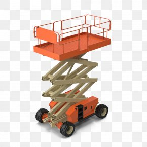 Engine Electric Scissor Lifts - Elevator Aerial Work Platform Cartoon PNG