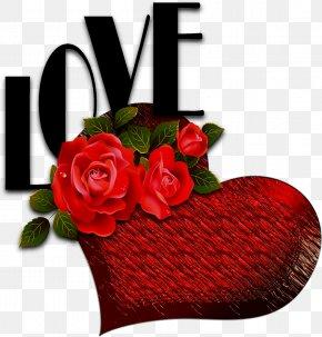 Love Text - Rose Heart Love Clip Art PNG