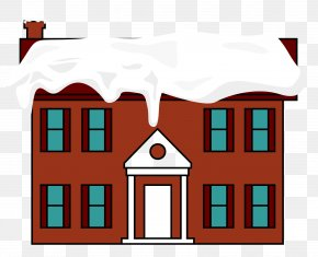 Vector Red House Floor Roof Snow - Roof Snow House PNG