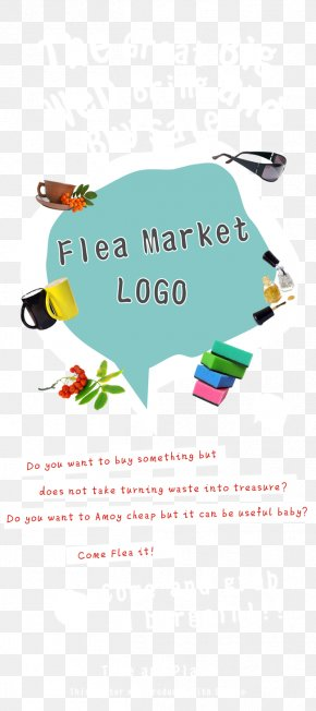 Flea Market Chin - Flea Market Poster Illustration PNG