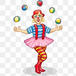 Circus Clown - Clown Circus Juggling Clip Art PNG