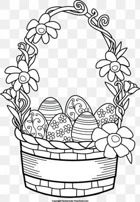 Easter Basket Clipart - Easter Bunny Easter Basket Easter Egg Clip Art PNG