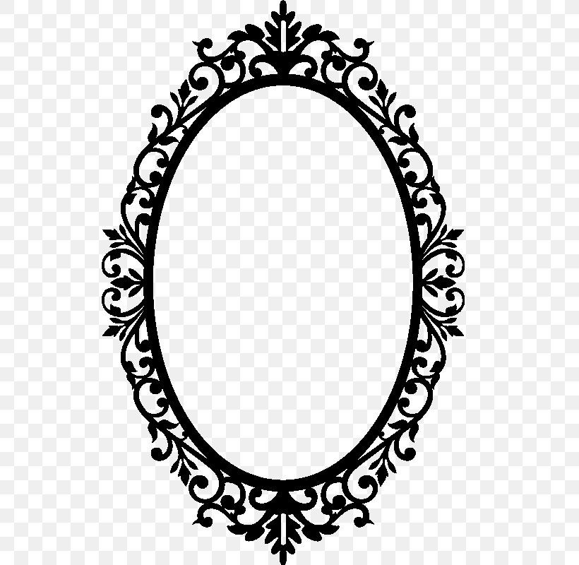 Picture Frames Mirror Clip Art Png, Black And White Mirror Clipart
