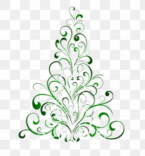 Transparent Green Christmas Tree Clipart - Christmas Tree Gift Clip Art PNG