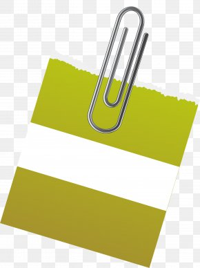 Vector Curved Needle Green Paper Notes - Paper Green Post-it Note PNG