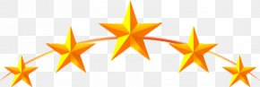Yellow Five-pointed Star - Five-pointed Star Icon PNG