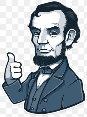 United States - Abraham Lincoln United States Telegram Sticker Musician PNG