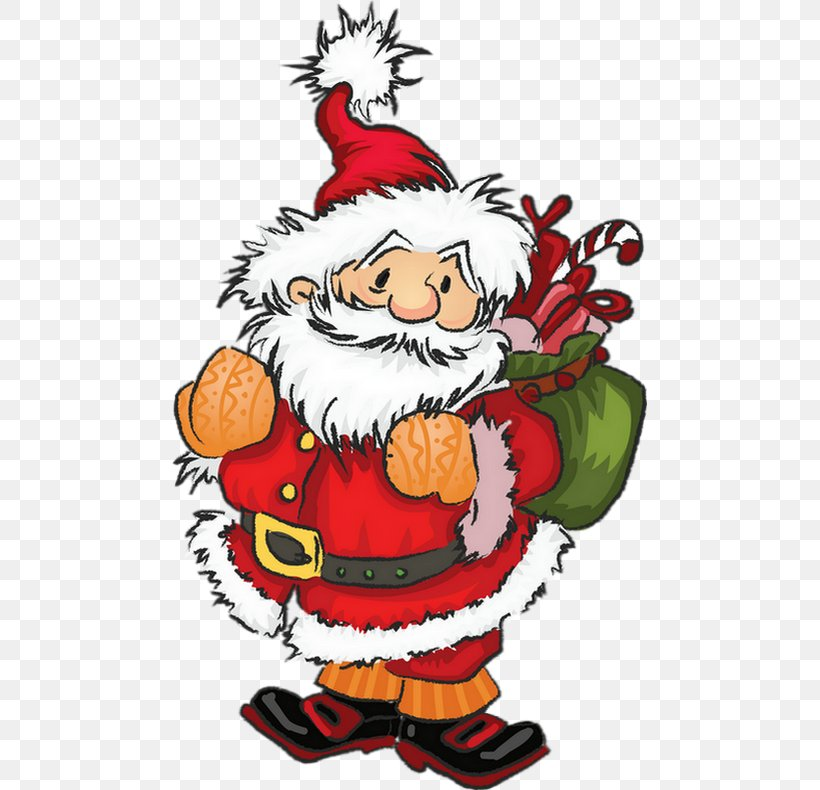 Santa Claus Christmas Tree Drawing Png 475x790px Santa