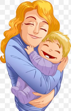 Vector Hand-painted Mother And Baby - Mother Family Child PNG