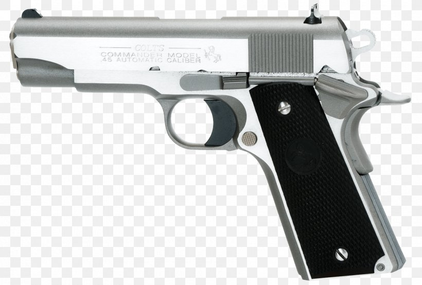 M1911 Pistol Colt's Manufacturing Company Colt Commander .45 ACP Firearm, PNG, 1800x1218px, 38 Super, 45 Acp, M1911 Pistol, Air Gun, Airsoft Download Free