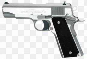 Handgun - M1911 Pistol Colt's Manufacturing Company Colt Commander .45 ACP Firearm PNG