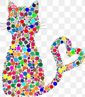 Color Dot Cat - Savannah Cat Kitten Felidae Clip Art PNG