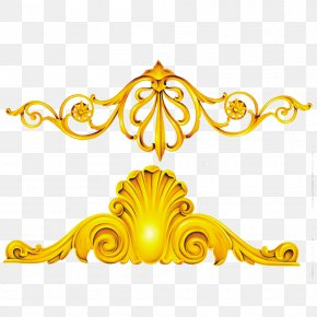 Gold Frame Decorative Patterns Material - Gold PNG