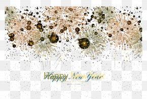 Golden Fireworks Background - Light Adobe Fireworks PNG