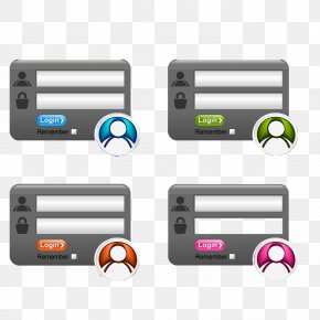 Registration Box Free Button Material - Login Form Website Button Icon PNG