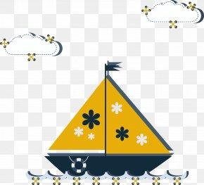 Cute Cartoon Boat - Cartoon Drawing Boat Animation PNG