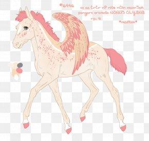 Mustang - Pony Mustang Camel Mane Pack Animal PNG