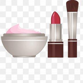 Foundation Lipstick And Powder Puff - Sunscreen Cosmetics Foundation Lipstick Make-up PNG