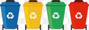 Classification Recyclable Trash Can - Waste Container Recycling Bin Waste Sorting PNG