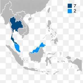 Association Of Southeast Asian Nations Vector Map, PNG