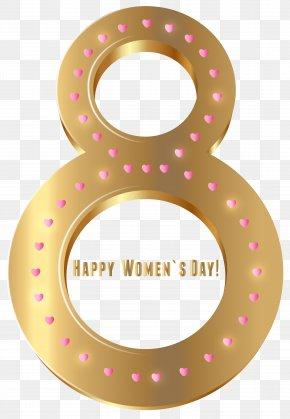 Women's Day Gold Transparent PNG Clip Art Image - Clip Art PNG