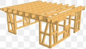 House - Carport Garage Gable Roof House Furniture PNG