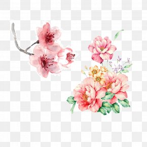 Boquet Cartoon - Floral Design Flower Watercolor Painting Clip Art PNG