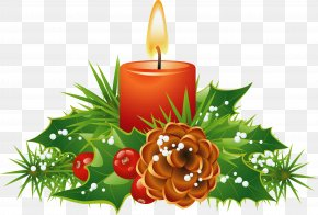 Candle - Clip Art Borders And Frames Christmas Day Candle Image PNG