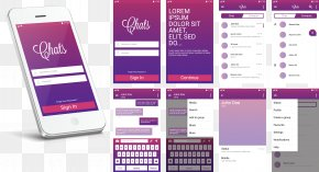White Smartphone APP Introduction Layout Pictures - Feature Phone Smartphone Mobile App PNG