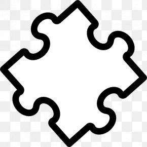 Puzzle Pieces Outline - Jigsaw Puzzles Coloring Book Clip Art PNG