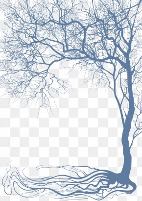 Tree And Roots - Tree Wall Decal Branch Wallpaper PNG