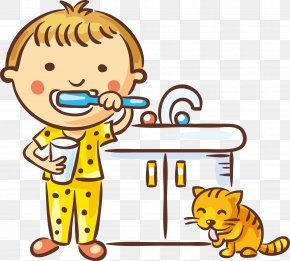 Children Brush Your Teeth - Tooth Brushing Dentistry Child PNG