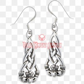 Jewellery - Earring Jewellery Filigree Silver Claddagh Ring PNG