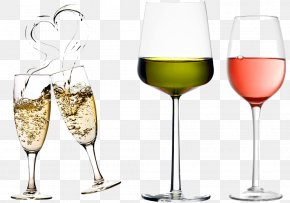 Wine Glass Set - Wine Glass Cup PNG