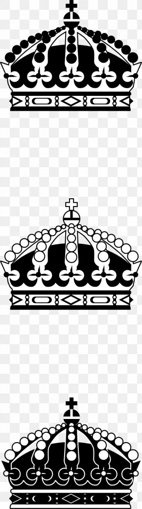 Imperial Crown - Black And White Crown Clip Art PNG