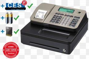 Cash Register - Cash Register Point Of Sale Casio Retail PNG