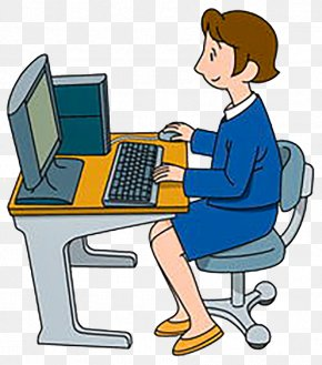 The Computer Desk Office - Personal Computer Clip Art PNG