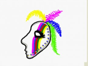 Feathers Clipart - The Lone Ranger Mask Mardi Gras Clip Art PNG