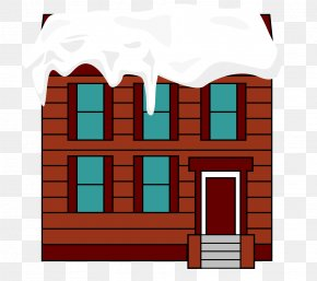 Vector Red Mansion 2 Layer Roof Snow - Roof PNG