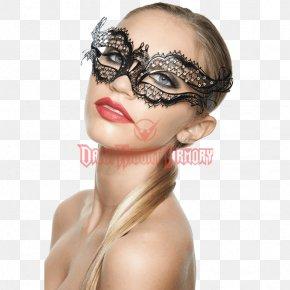 Mask - Mask Forehead Masquerade Ball Eyelash Gold PNG